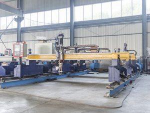 બુદ્ધિશાળી ગેન્ટ્રી પ્રકાર સી.એન.સી. મેટલ પ્લેટ કટીંગ મશીન આપોઆપ પ્લાઝ્મા અને જ્યોત કટર મશીનરી